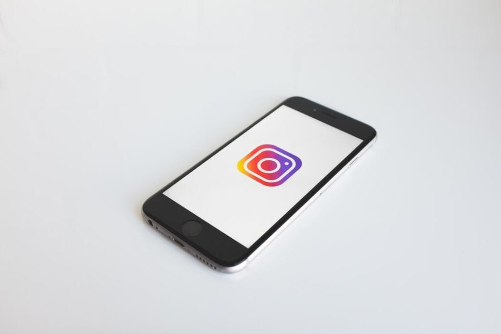 instagram with phone